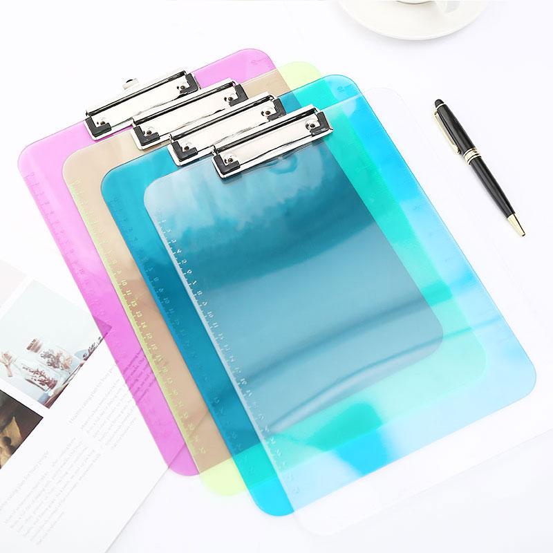 Acrylic Clipboard A4 A5 Transparent Ruler Writing Pad Exam Clip Board Folder Office School Supply Item Paper Nursing Stationary