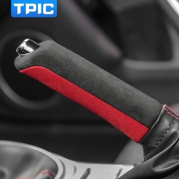 TPIC Alcantara Car Handbrake Cover For Subaru BRZ Toyota 86 2013-2020 Auto Gear Shift Sticker Mouldings Interior Accessories 1