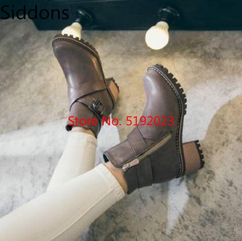 Botines de mujer hebilla punta redonda tacones bajos Matin zapatos mujer Chaussure gladiador Vintage PU cuero botines D135 Zapatos planos de alpargatas para mujer, zapatillas blancas superligeras, mocasines de verano y otoño, chaissures, zapatos planos de cesta para mujer