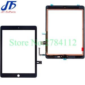 Image 1 - Сменный сенсорный ЖК экран A1893 A1954, 10 шт., для iPad 6 2018, 6 го поколения, внешнее стекло с клеем