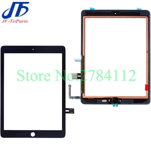 Repuesto de pantalla táctil para iPad 6 2018 6th Gen A1893 A1954 cristal exterior lcd frontal con adhesivo, 10 Uds.