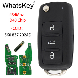WhatsKey For VW 5K0837202AD 3 Buttons Car Remote Key Fit For Volkswagen Polo Passat Beetle Eos Golf Jetta Tiguan 5K0 837 202 AD