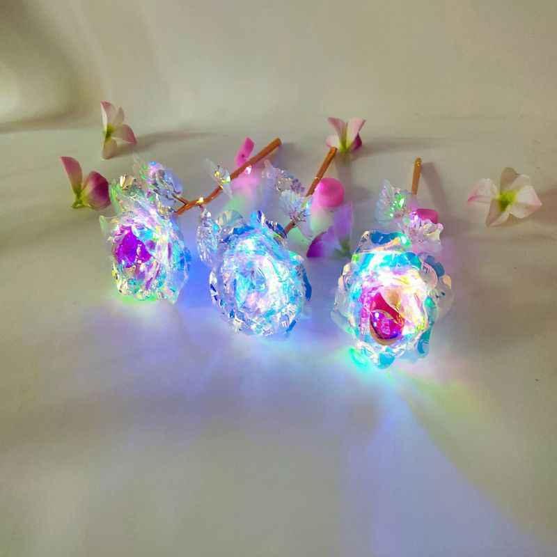 Nuovo Caldo Stringa di Luce 33k Stagnola di Oro Rosa Star Luminoso Fiori Artificiali di San Valentino \'s Regalo di Giorno Decorazione Della Casa 2020/