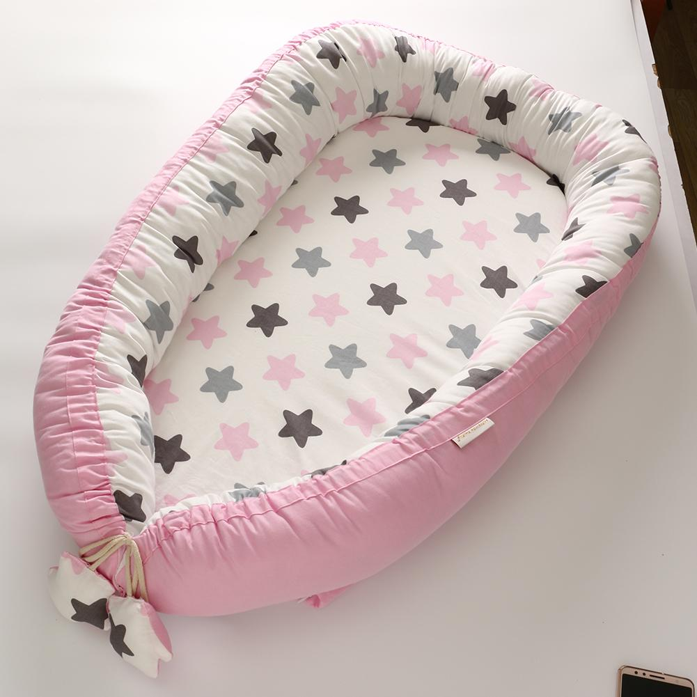 Lit de nid de bébé lit de voyage Portable berceau en coton pour bébé nouveau-né berceau pare-chocs