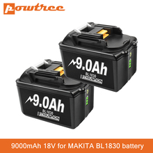 Аккумуляторная батарея BL1830, 18 в, 9 А, 9000 мАч, литий-ионная батарея, сменная батарея для MAKITA BL1880, BL1860, BL1850, BL1860B, L70