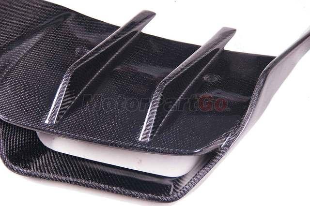 Renntech Style Carbon Fiber Rear Bumper Lip Spoiler Diffuser For Mercedes BENZ SLS R197 AMG  bodykit  M186 5