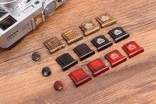 Wooden Surface Camera Hot Shoe Protective Cover Wood Shutter Release Button for Fujifilm Fuji X100V XT4 X Pro2 XT20 XT30 XT3 XE3