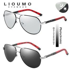 Image 2 - Mode Design Pilot Sonnenbrille Männer Polarisierte Sicher Fahren Gläser Photochrome Frauen Männlichen Fahrer Brillen gafas de sol hombre