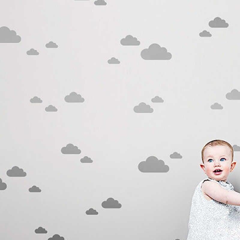 الذهب سحابة ملصقات جدار للأطفال غرفة الطفل الحضانة غرف نوم المنزل فن الديكور القابلة للإزالة الجداريات ورق الجدران ديكور المنزل