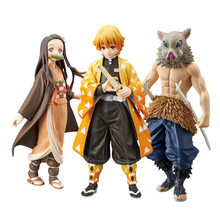 15 CM Kamado Tanjirou/Kamado Nezuko figurka Anime Kimetsu nie Yaiba rysunek/Agatsuma Zenitsu/Hashibira Inosuke zabawki modele
