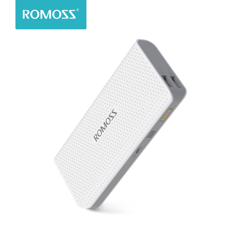 10400mAh ROMOSS Sense 4 LED Power Bank 2.1A Charging External Battery Packs Dual USB Output Portable Charger For Phones Table