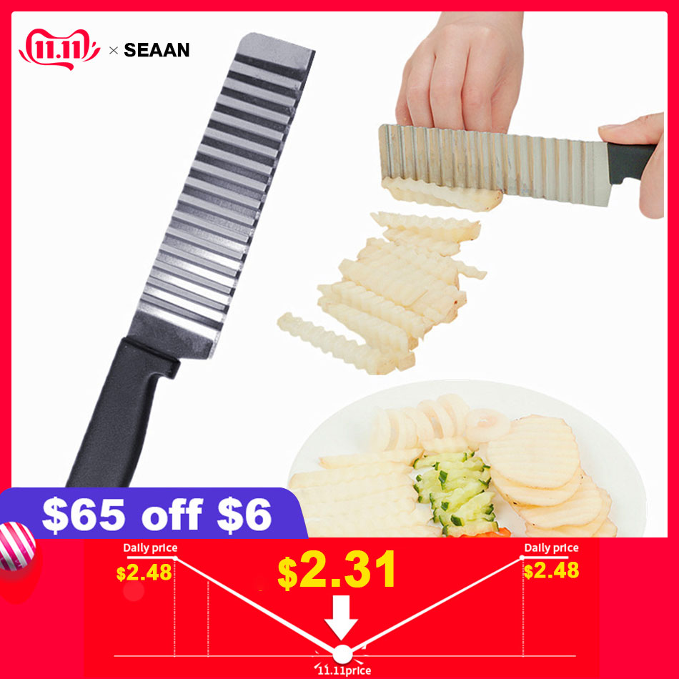 SEAAN Potato French FryVegetable Cutter Knives Stainless Ste