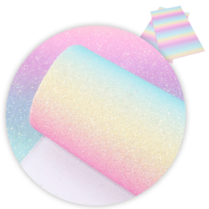 David Accessories 20*34cm Rainbow Glitter Faux Leather Fabric For Bow Synthetic Leather DIY Decoration Crafts ,1Yc5329(China)