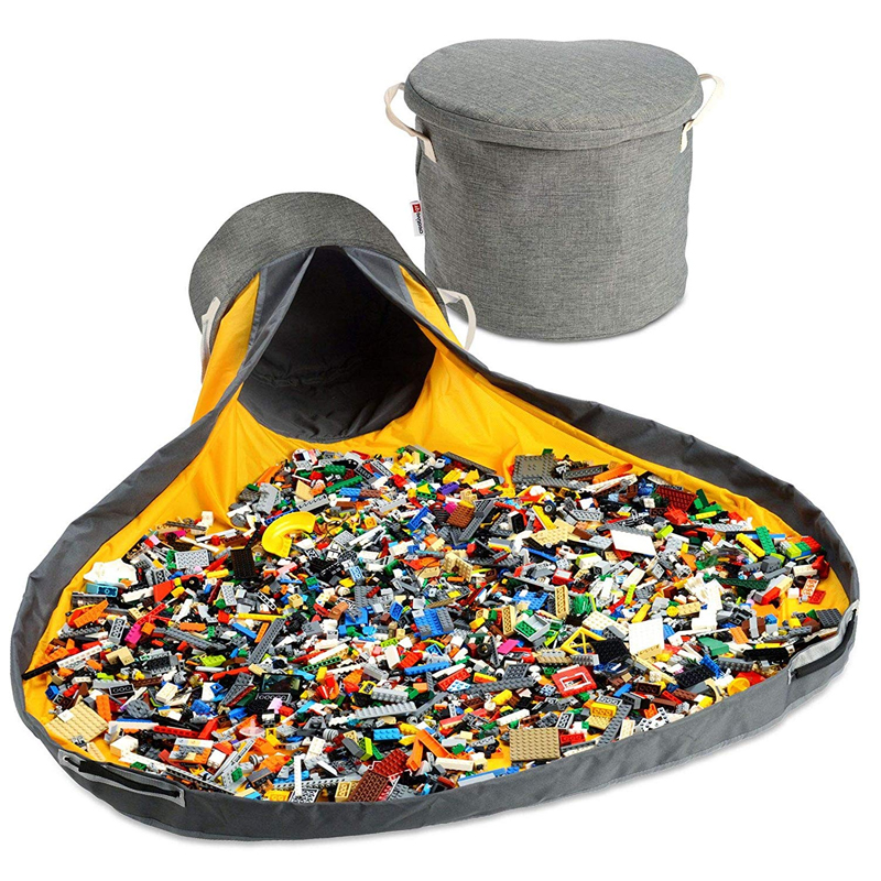Bolsa de almacenamiento portátil plegable para juguetes de niños