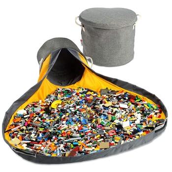 Fëmijët e rinj të palosshëm portabël luajnë lodër pastrimi dhe çantë magazinimi enë lodra portative shumëfunksionale në modë ruajtje praktike