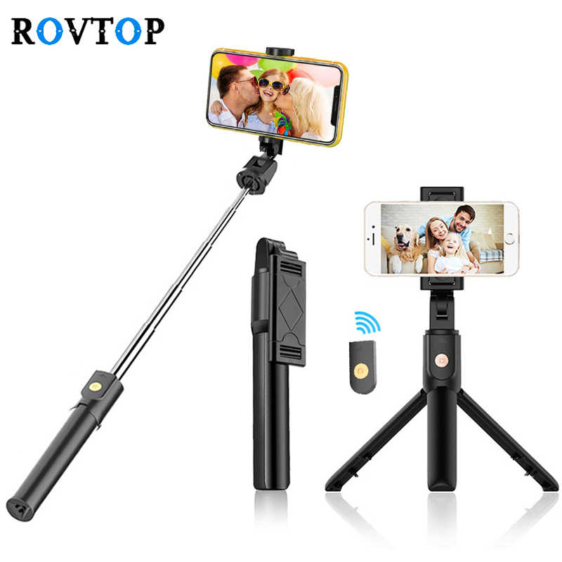 Rovtop Bluetooth 4.0 Selfie Stick Mini Tripod untuk iPhone Android Ponsel Foldable Handheld Monopod Shutter Remote Control Z2