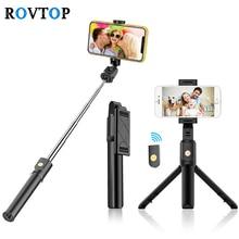 Rovtop Bluetooth 4.0 Selfie מקל מיני חצובה עבור iPhone אנדרואיד טלפון מתקפל כף יד חדרגל תריס Z2