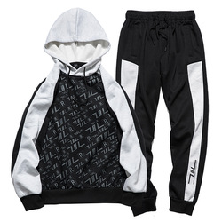 Mens Casual Sports Wear 2019 Autumn Winter Long Sleeves Pullover Hoodies Tracksuit Fine Fleece Male Football Suit Sweatshirts