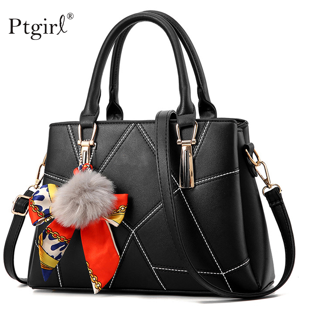 Women PU Leather Handbags Famous Brands Ptgirl Crossbody Bag For Women Fashion Bags Ladies Luxury Bags 2019 Sac A Main Femme Bag