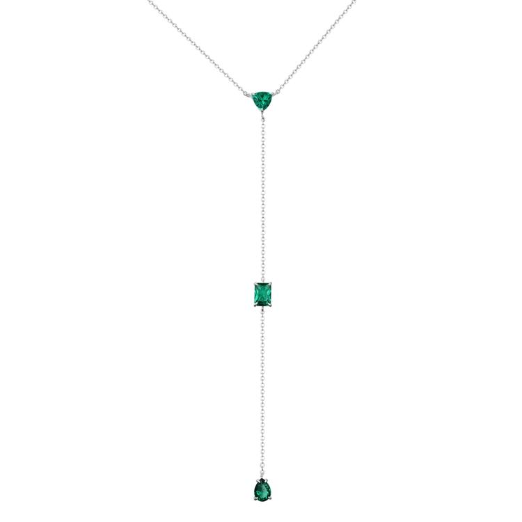Bling cristallo zircone pietra argento Sterling 925 collana lunga catena a maglie pendenti collana san valentino gioielli alla moda