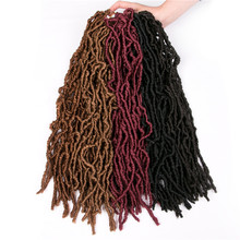 Dreadlocks Crochet Braid hair 18 inch 20 roots/pack,Afro Locs twist Ombre Synthetic Braiding Hair extensions Nu Locs(China)