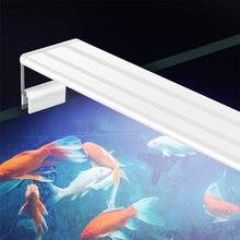 A lâmpada do tanque de peixes conduziu a iluminação do aquário da luz do aquário da capa da luz do tanque de peixes com suportes extensíveis para o tanque de peixes 20-80cm