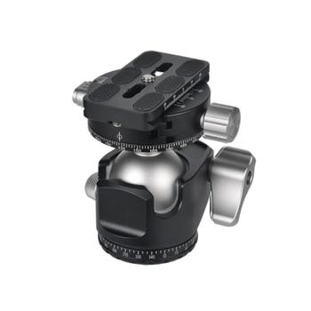 ABHU-D-40 Professional Double Panoramic Head CNC Machining Ball Head Double U Notch for Tripod Monopod DSLR ILDC Cameras