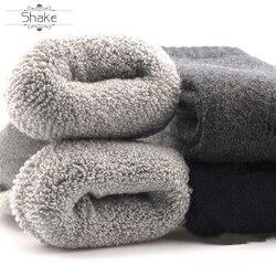 Herfst & Winter Fleece Thermische Sokken Met Dikke Wol Kousen Vrouwelijke Handdoek Kasjmier Streep Lange Katoenen Warme Badstof Lus Buis sok