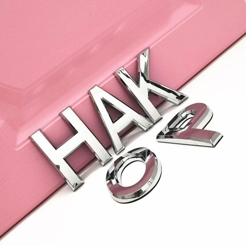3D пластик Алфавит серебро хром значок серебро буквы, цифры Автомобильные наклейки-Логотипы автомобилей аксессуары наклейки украшения