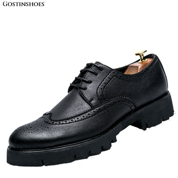 Patent Leather Men Shoes Buty Meskie Fashion Footwear Men Business Brogue Casual Zapatos De Hombre Buty Meskie фото