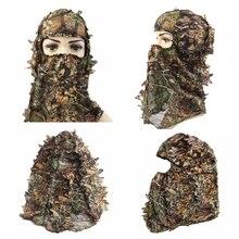 Кленовый лист, стиль, камуфляж для лица, маска, охотничий капюшон, головной убор, сетка для глаз, открывающийся шарф, охотничьи костюмы, аксессуары