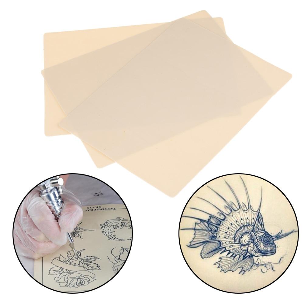 "Купить с кэшбэком 1PC Tattoo Practice Skin DIY 8""x6"" Dual Side Premium Blank For Needle Supply Kit Body Art Accessories"