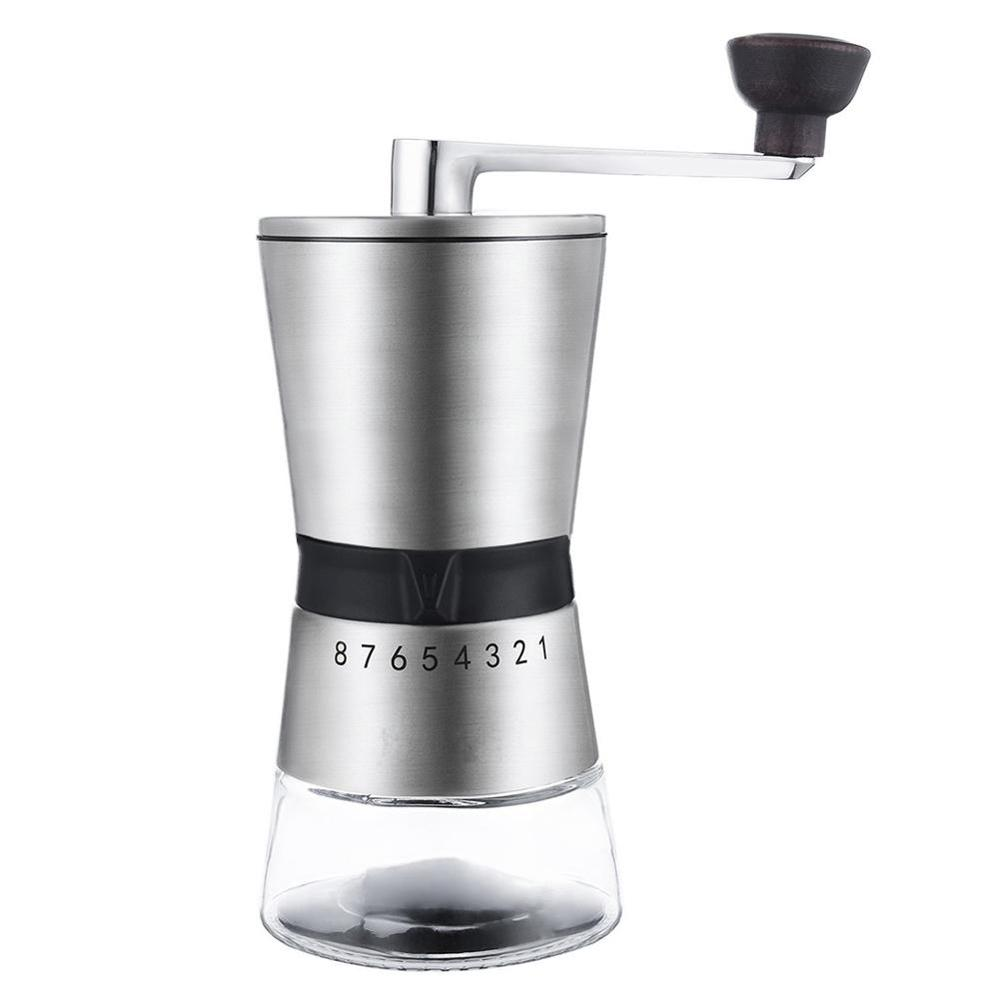 Stainless Steel Hand Crank Grinding, Conical Ceramic Coffee Grinder Minipresso Home Decoration Accessory Cafetera Coffee Machine