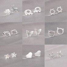 ROXI 925 Sterling Silver Stud Earrings for Women Girls Cute Animal Star Heart Le