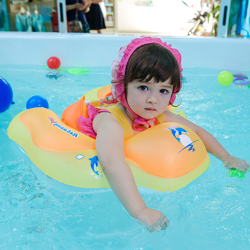 Inflatable Baby Swimming Ring With Protect Cover Child Swim Pool Float Ring Safety Kids <font><b>Water</b></font> Bed Pool <font><b>Toys</b></font> <font><b>For</b></font> Child image
