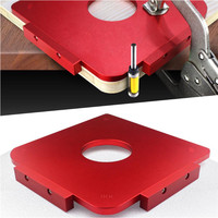 4 In 1 R5/R10/R20/R30 Router Temple Plate Wood Panel Radius Corner Template with Router Bit Woodworking Tool TP 0323