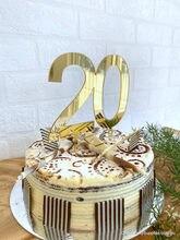 Topper feito sob encomenda 20th,30th,50th, aniversário feito sob encomenda todo o texto feito sob encomenda do topper do bolo do aniversário do número personalizado