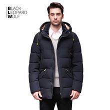 Blackleopardwolf 2020 Winter down jacket men coat  winter Mens jackets Mid length Hooded  Warm Casual markers  Parka BL 833