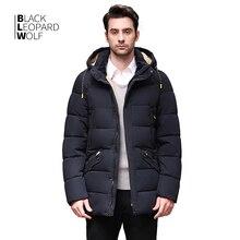 Blackleopardwolf 2020 Зимний пуховик Мужское пальто зимние мужские куртки средней длины с капюшоном Теплая Повседневная парка с маркером BL 833