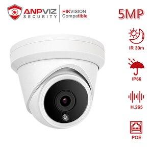 Anpviz (Совместимость с Hikvision) IPC-D350 5 Мп POE ip-камера для дома/на открытом воздухе CCTV видеонаблюдение DHCP ONVIF P2P