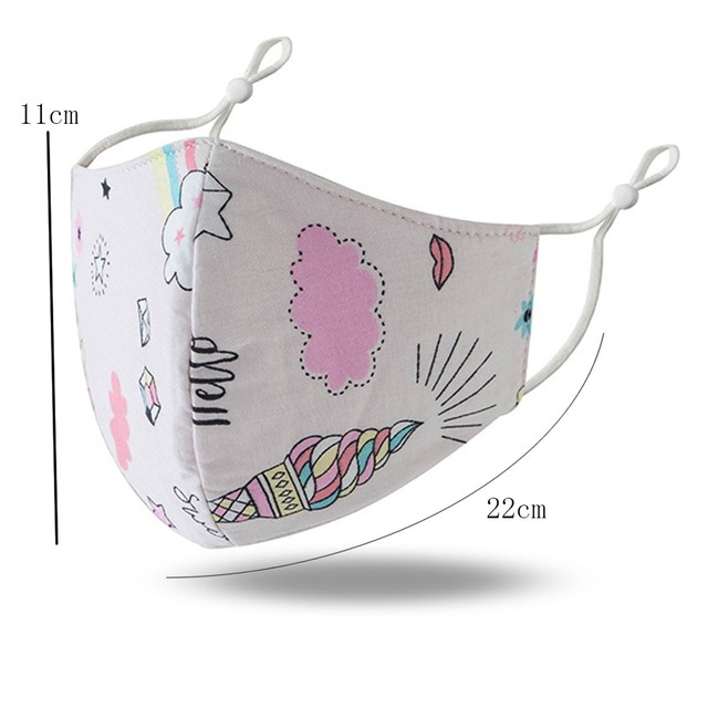 Child cartoon mouth masks unisex w