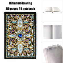 DIY Mandala Special Shaped Diamond Painting Notebook 50 Pages A5 Sketchbook Notebook Diamond Embroidery Cross Stitch Diary Book стоимость
