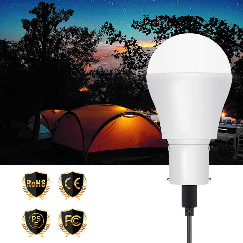 Portable LED Solar Lamp Charged Solar Energy Light 5V 15W Panel Powered Emergency Bulb For Outdoor Camping Tent Fishing Ampoule