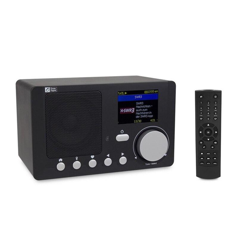 Портативное Интернет-радио с перезаряжаемой батареей, Bluetooth-приемник с цветным дисплеем 2,4 дюйма, Поддержка UPnP и DLNA