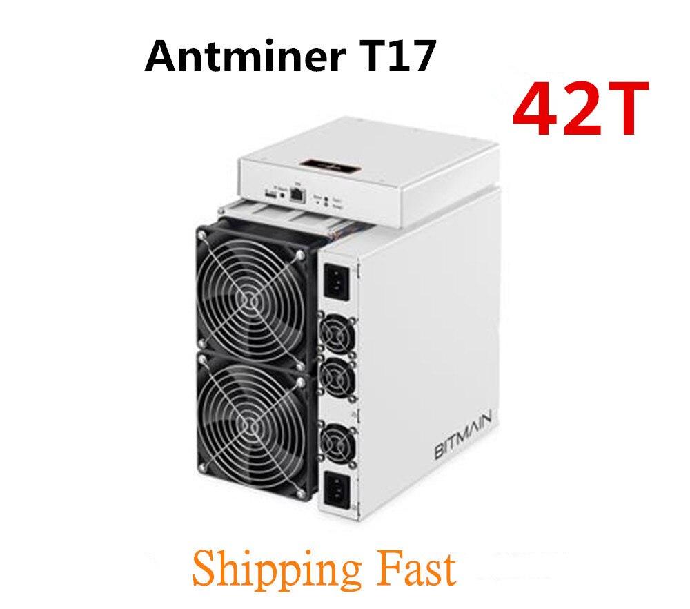 BITAMAIN Newest BTC BCH Miner AntMiner T17 42TH/S With PSU Better Than S17 Pro T17e S17e S15 S11 S9 T15 WhatsMiner M3X M21S M20S