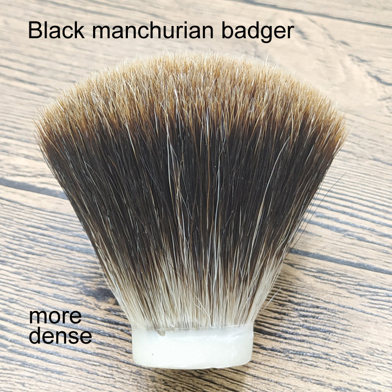 DSCOSMETIC More Dense Black Manchurian Badger Hair Shaving Brush Knots