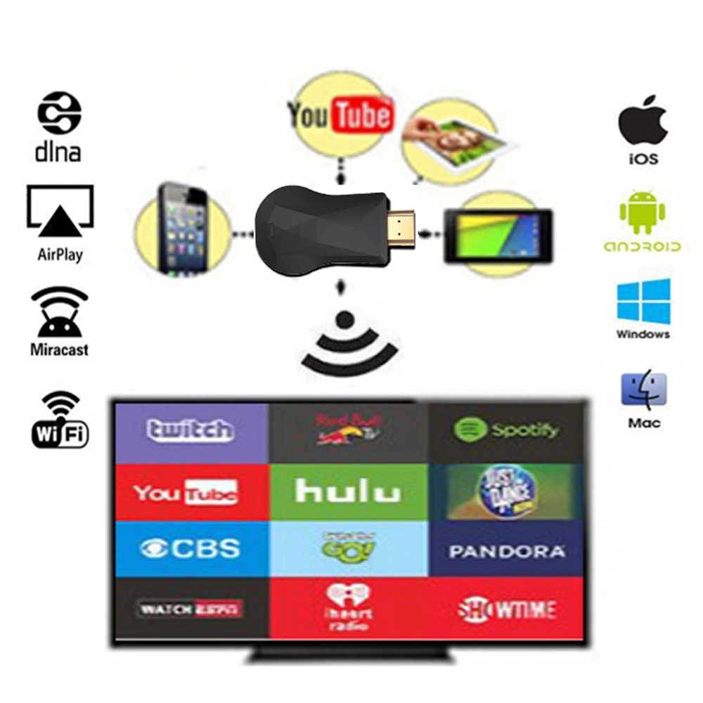 WiFi bezprzewodowy wyświetlacz Smart TV HD Dongle Airplay odbiornik TV Miracast dla Netflix YouTube Crome chrome cast TV stick