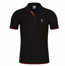 Nowa koszulka Polo RF roger federer logo bawełniana koszulka Polo z krótkim rękawem duża ilość koszulki polo H6