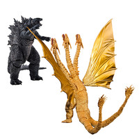 Anime Movie SHM Godzilla Monster King Ghidorah Movable Joint Action Figure PVC The Model Box Perfect Gift Toy