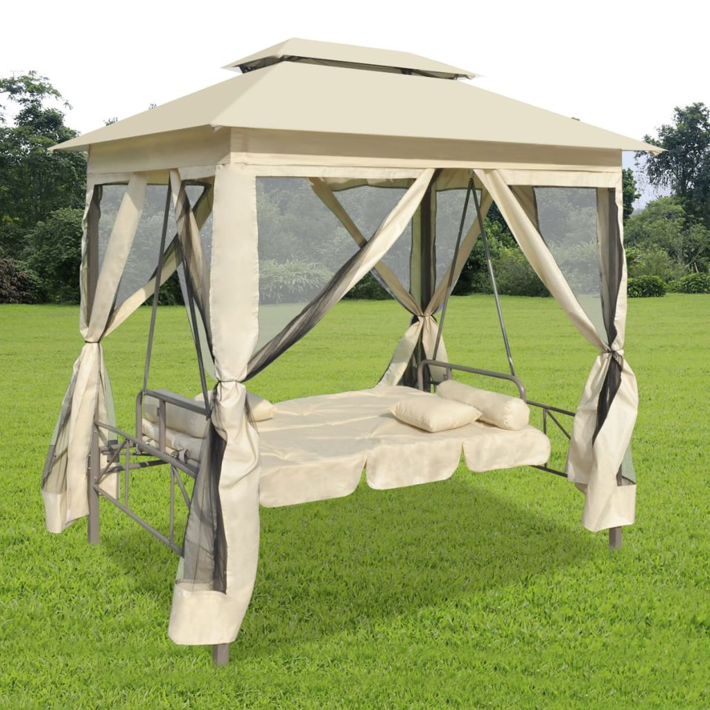 Outdoor Chair Cream-Tent Garden No Canopy Swing-Awning Gazebo Sail Sun-Shade Courtyard